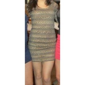 Olive & Gold Lace Forever21 Dress